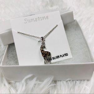 Jewelry - Sunstone Giraffe Silver Pendant Gemstone Necklace